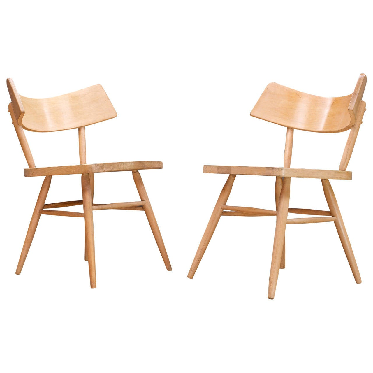 Edmund Spence 'Attributed' Wingback Oragami Side Chairs