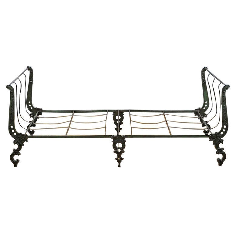Victorian Cast Iron Ornate Campaign Daybed Sofa Chaise At 1stdibs