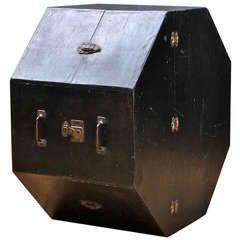 Vtg 1930s Oddball Wooden Octagonal Case Box