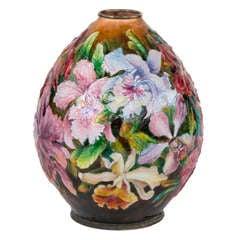 Art Nouveau Floral Vase by Camille Faure