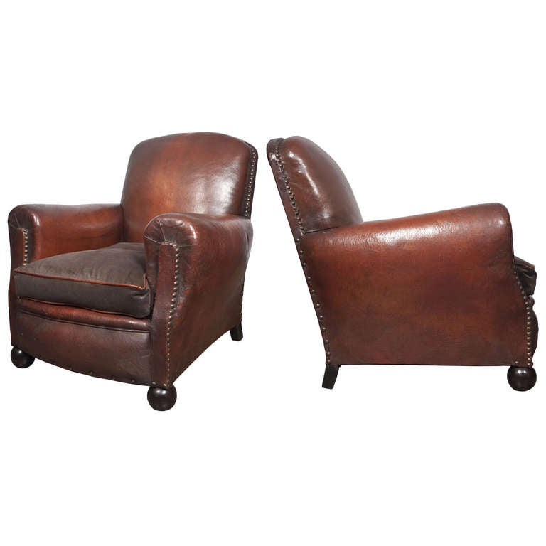 Vv8frenchleatherclubchairsa