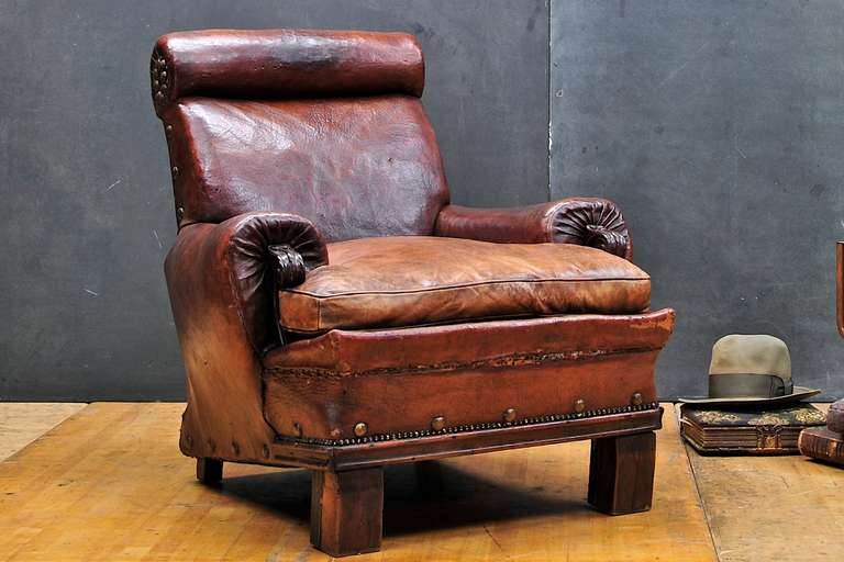 red leather club chair recliner faux and ottoman civil war era century armchair brexley in black
