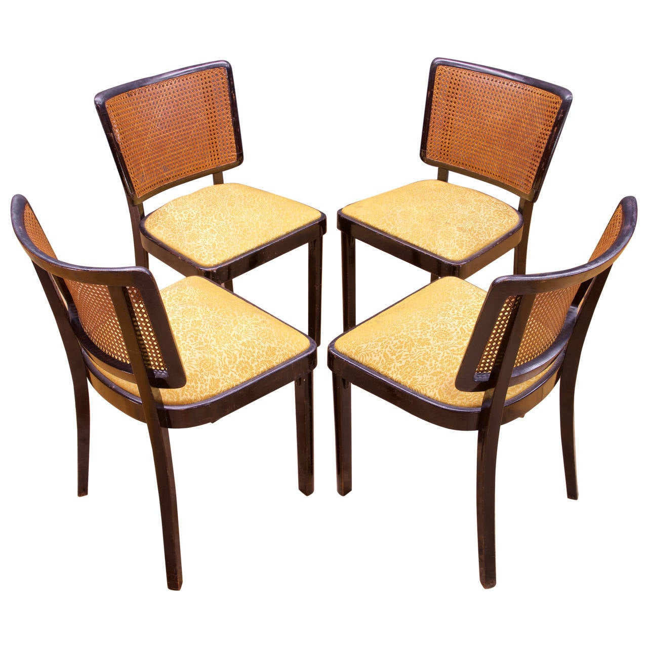 1930s Cane Wooden Thonet Dining Chairs At 1stdibs