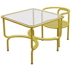 Gae Aulenti Locus Solus Table and Chair for Poltronova
