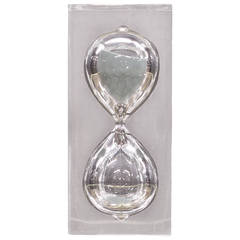 1970s Large Lucite Hourglass