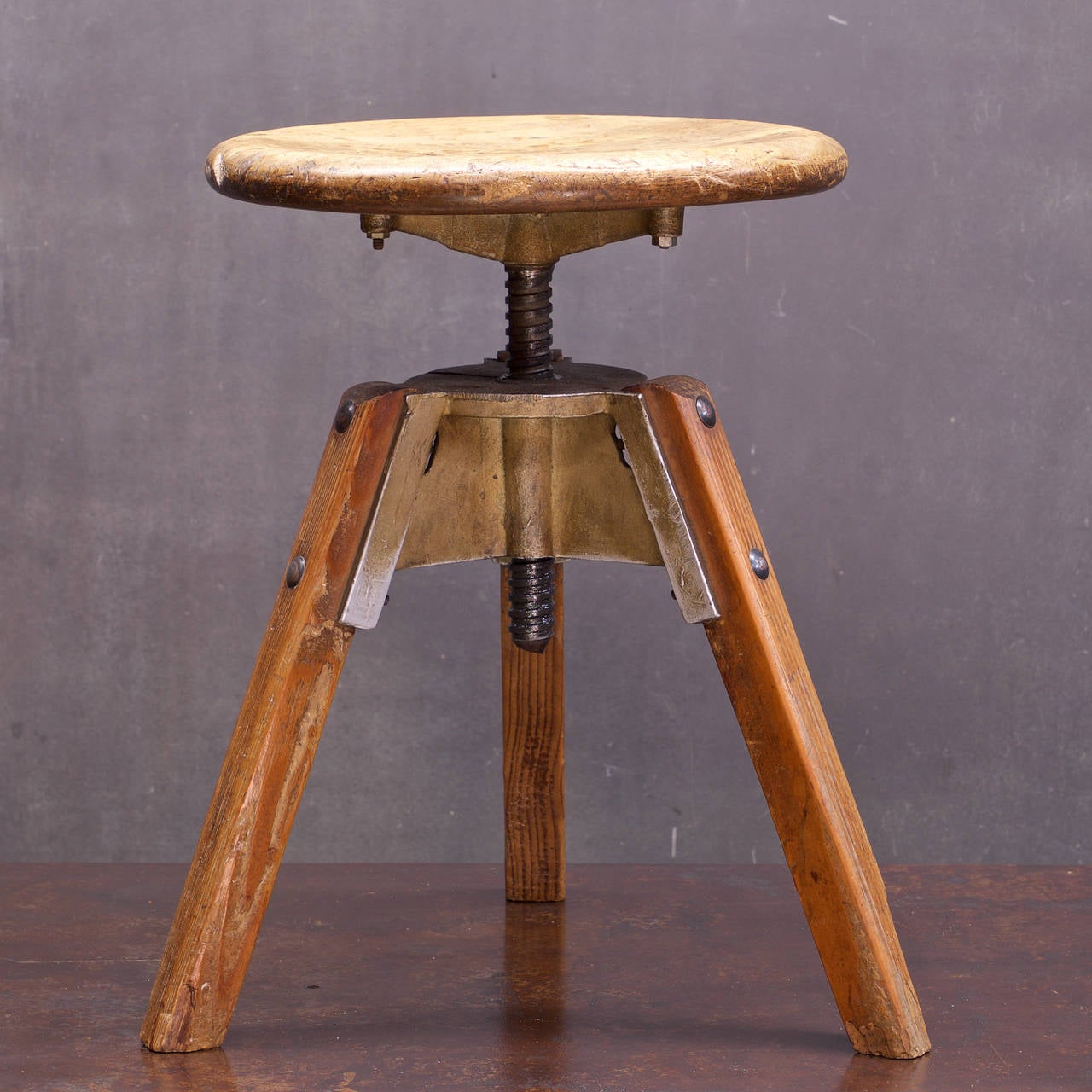 Antique Rustic Mid Century French Industrial Artist