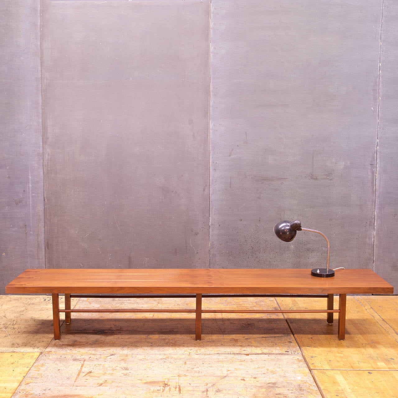 Low And Monumental Milo Baughman Walnut Coffee Table Bench 3