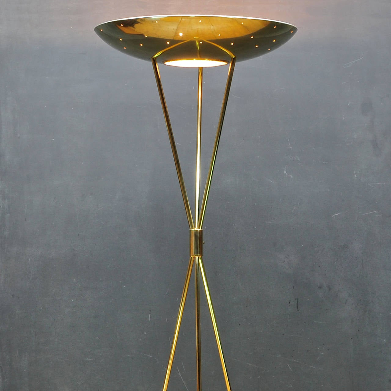 1950s modern romanesque laurel regency torchiere tripod for 1950s floor lamps