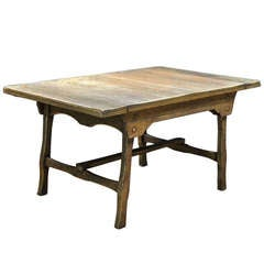 1920's American Folk Art Country Tavern Kitchen Work Dining Table