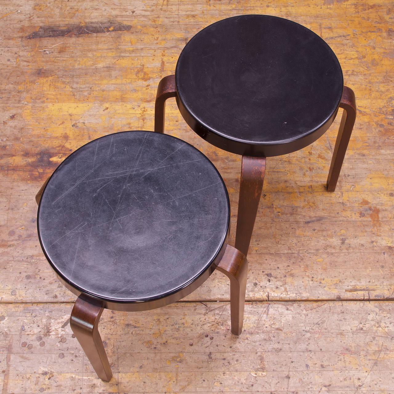 Art Deco 1930s Bakelite Seat Thonet Bentwood Stools At 1stdibs