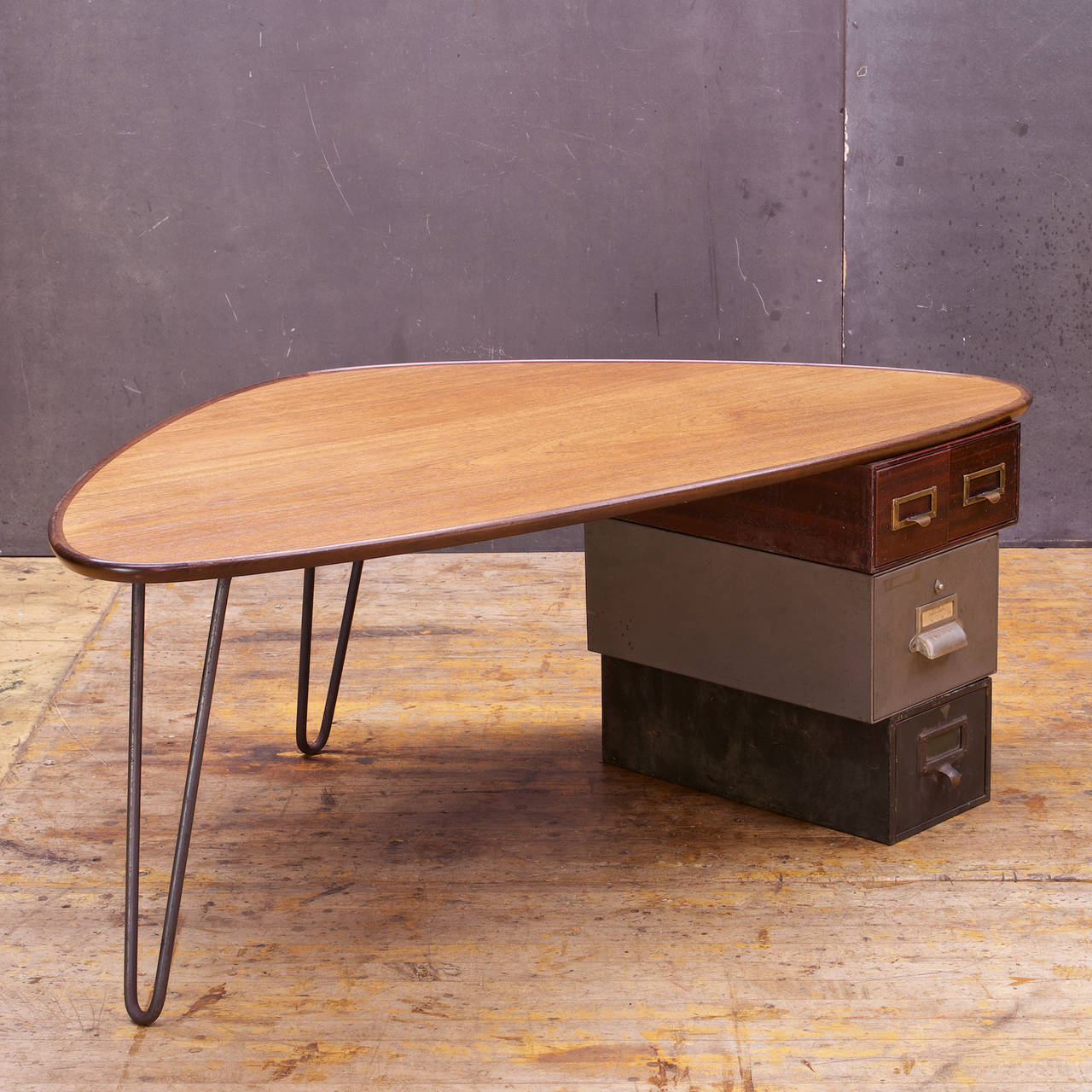 Modern50 Rudderbox Assemblage Hairpin Coffee Table At 1stdibs