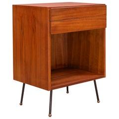 Petite Danish Atomic Teak Bedside Cabinet Assemblage