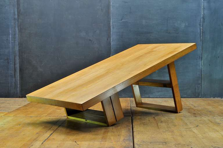 Transformer Coffee Table.Taylor Van Keppel Green Maple Camel Transformer Dining Coffee Table