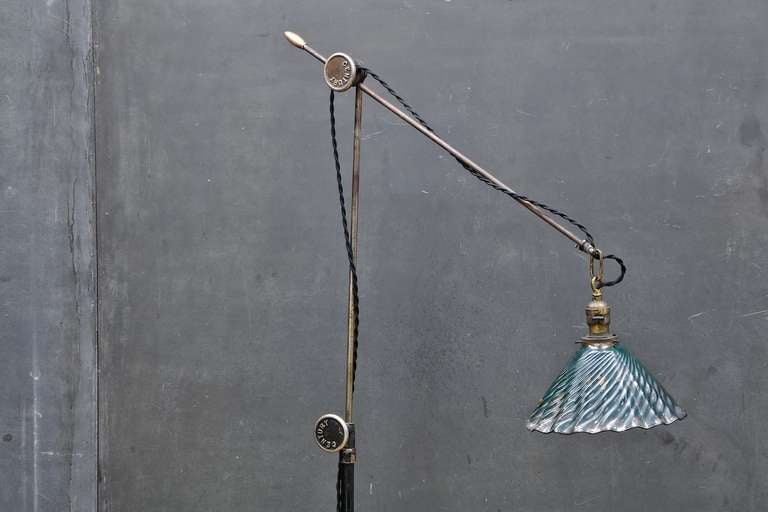 vintage industrial steampunk century floor lamp at 1stdibs. Black Bedroom Furniture Sets. Home Design Ideas