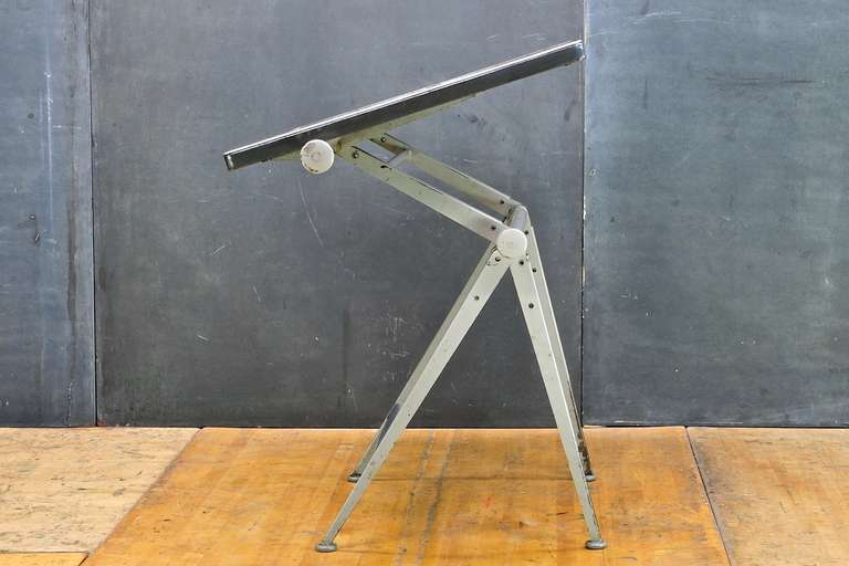 Mid-Century Dutch Modern Rietveld Steel Reply Drafting Table 7