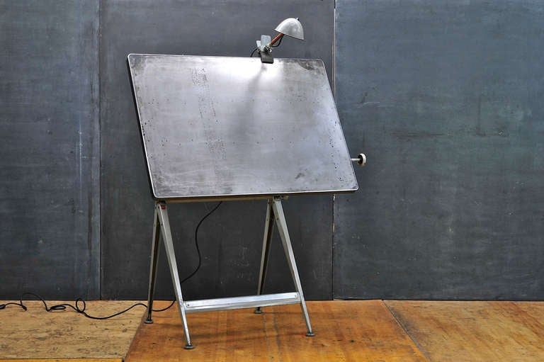 Mid-Century Dutch Modern Rietveld Steel Reply Drafting Table 5