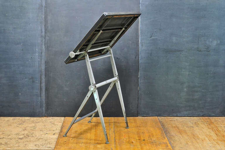 Mid-Century Dutch Modern Rietveld Steel Reply Drafting Table 4