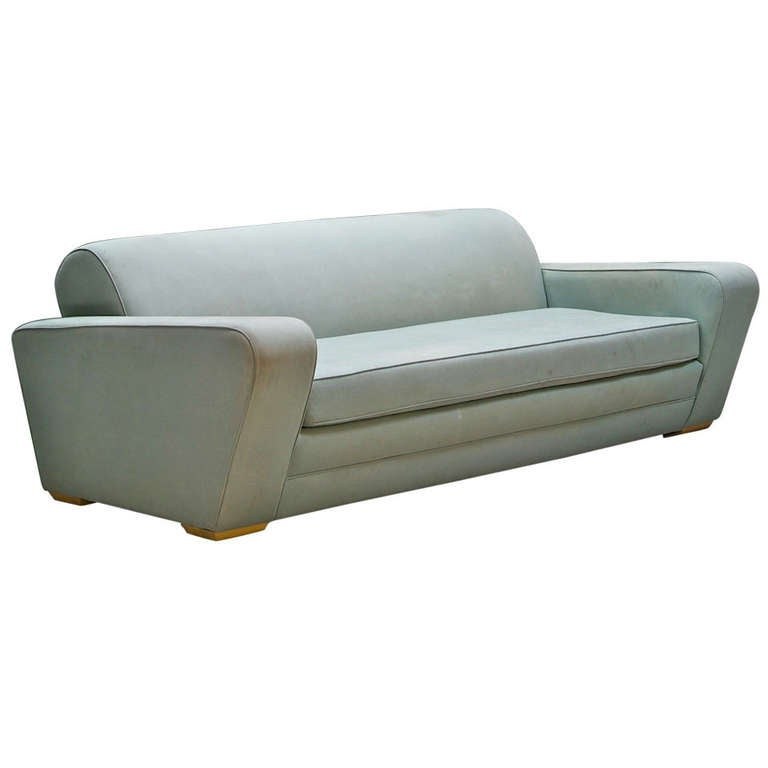 1930s Frankl Speed Sofa Deco Moderne Machine Age & Streamline For Sale