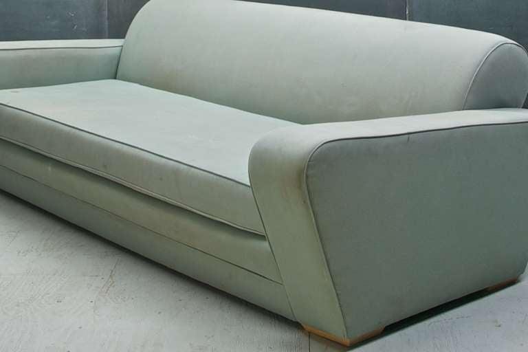 Upholstery 1930s Frankl Speed Sofa Deco Moderne Machine Age & Streamline
