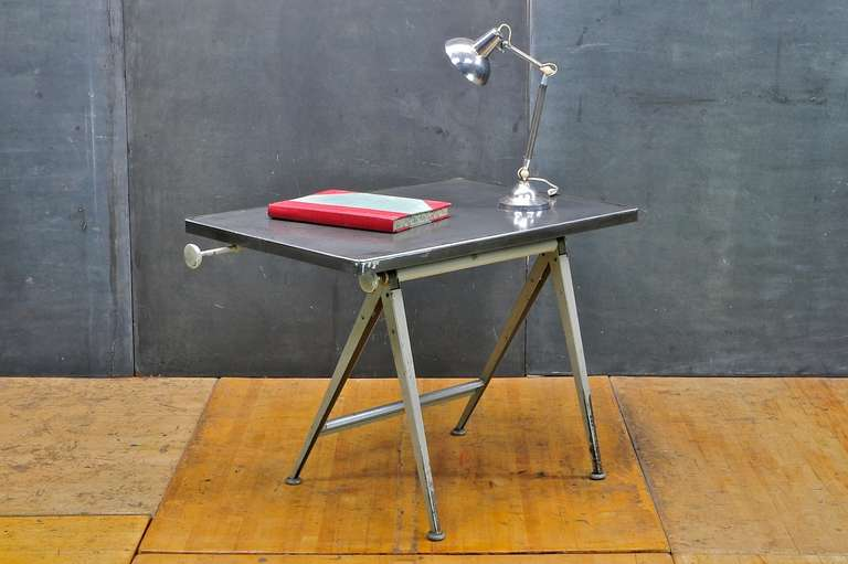 Mid-Century Dutch Modern Rietveld Steel Reply Drafting Table 6