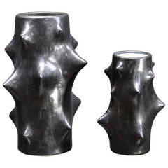 Knud Basse for Michael Andersen Ceramic Thorn Vases Axel Salto Style