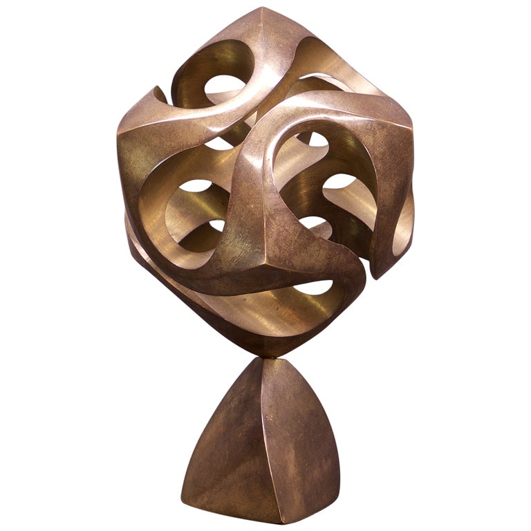 Charles O. Perry Cassini Bronze MIT Mathematical Geometric Desk Sculpture #80 For Sale