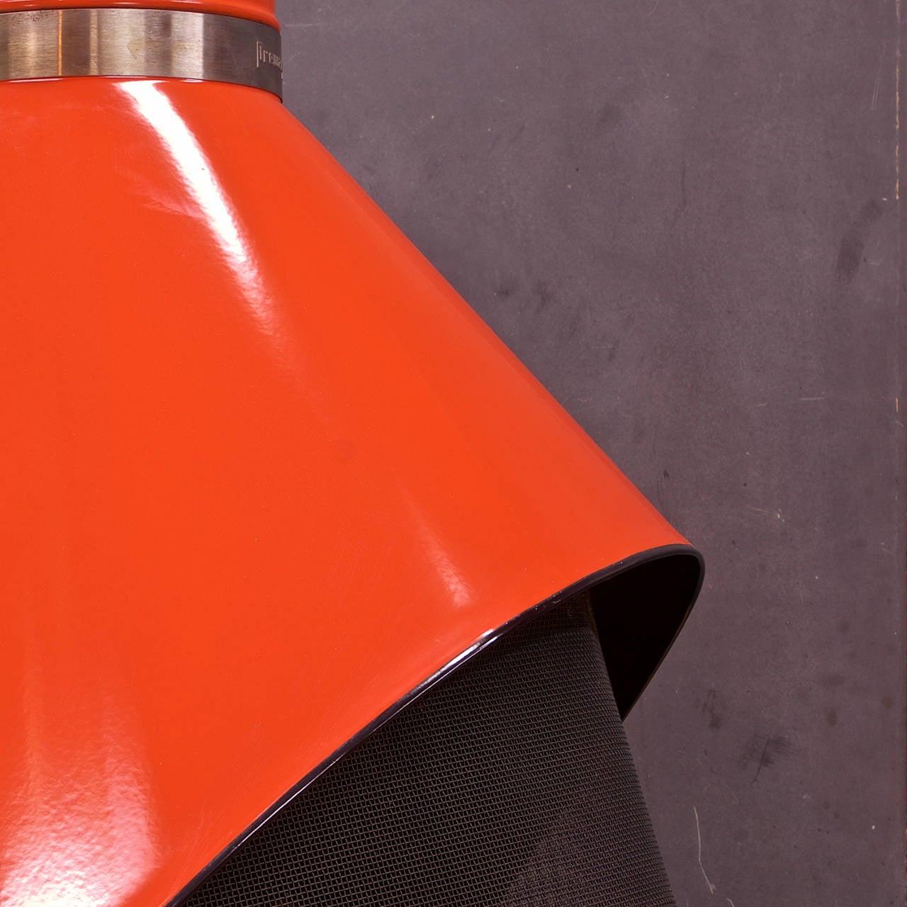 1970s Free Standing Preway Kiva Orange Freestanding