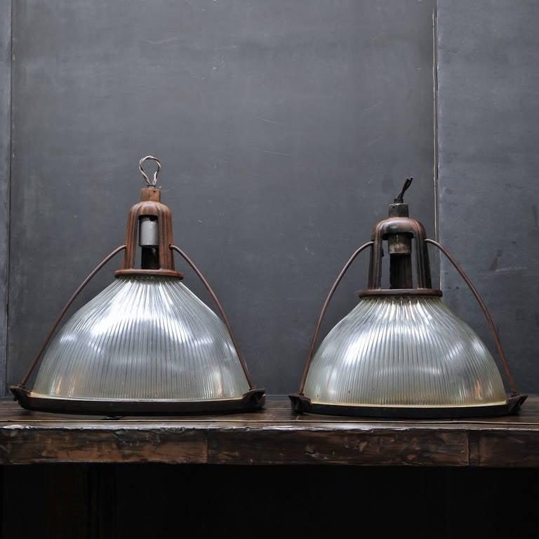 Monumental 1910s Vintage Industrial Holophane Warehouse
