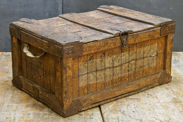 Vintage Wooden Box 1920s Boxes/chests