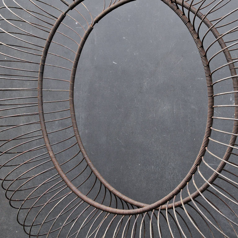 Industrial 1920s Taxi Cab Company Garage Tube Repair Wire Hoop Sculpture For Sale