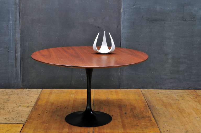 Exceptional Cabin Modern Walnut Black Tulip Dining Table 3