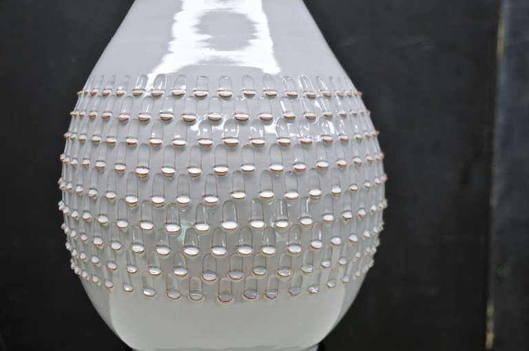 Danish Jacob Bang Scaled Ceramic Table Lamp For Sale