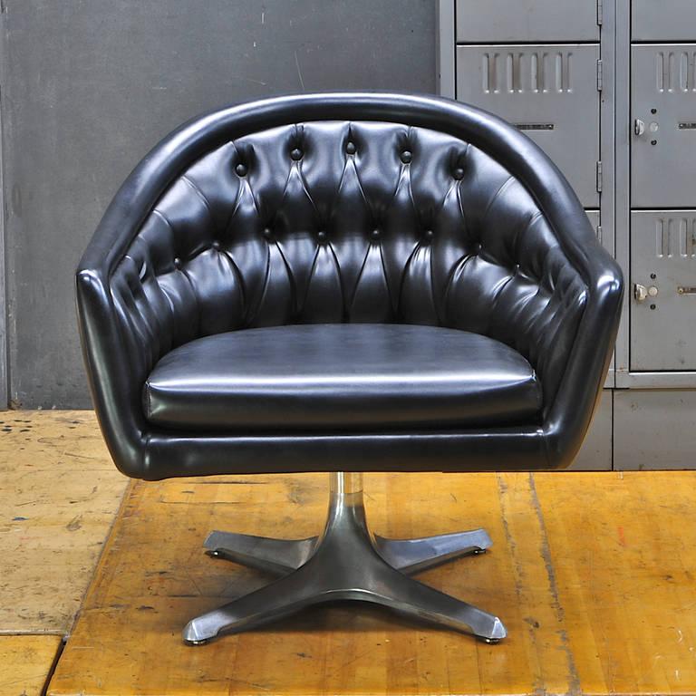 Prime 1960S Chromcraft Star Trek Sculpta Black Tufted Swivel Cjindustries Chair Design For Home Cjindustriesco