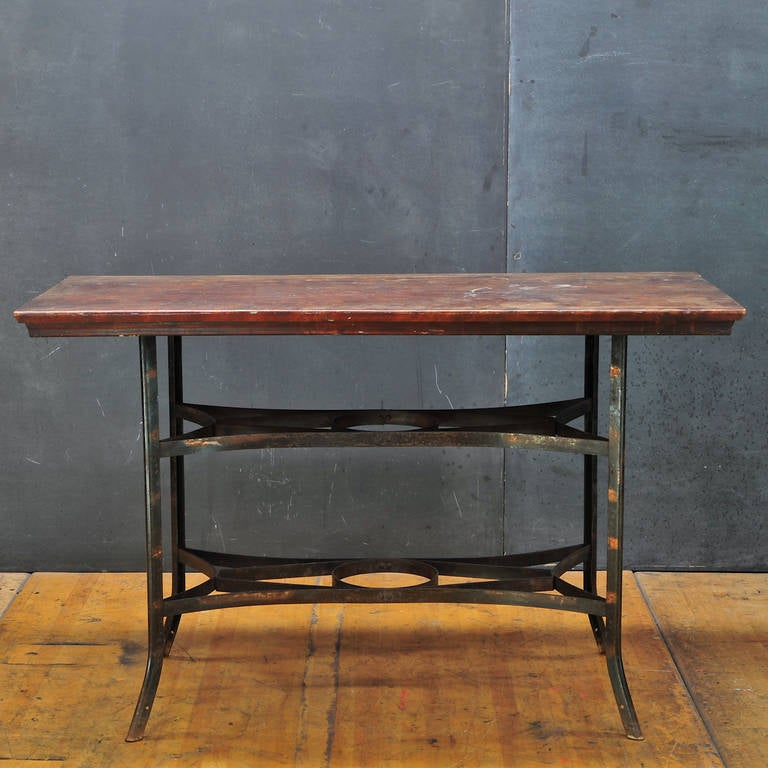 Rare Toledo Metals Company Mercantile Petite Work Table