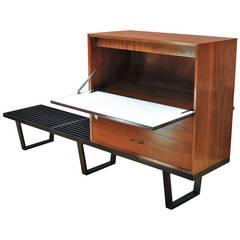 George Nelson Herman Miller Long Bench Secretary Writing Desk