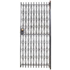 1910s Industrial Loocke Warehouse Gay Street Iron Metal Garden Gate Door