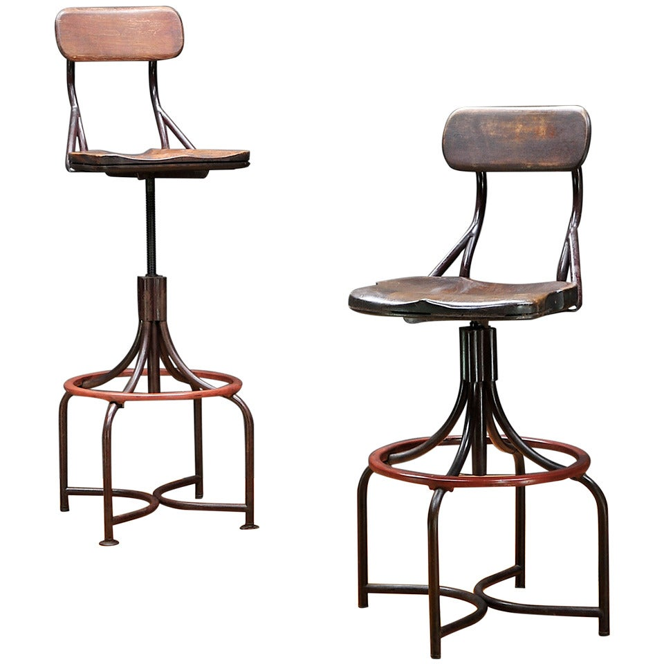 Excellent 1930S Vintage Industrial Westinghouse Factory Bar Stool Creativecarmelina Interior Chair Design Creativecarmelinacom