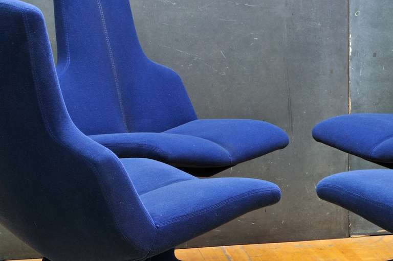 1960 S Space Age Gastone Rinaldi Italian Dining Chairs For