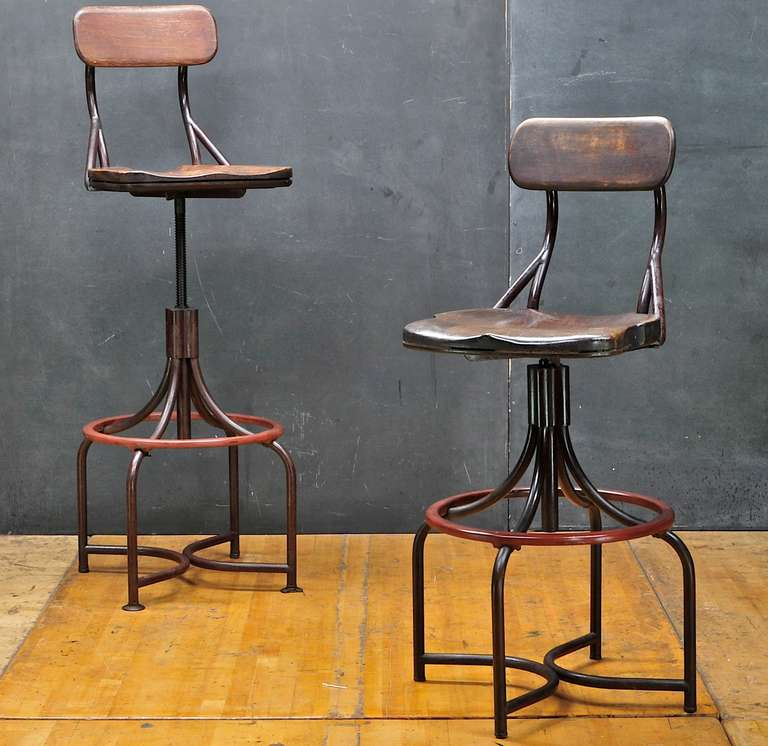 S vintage industrial westinghouse factory bar stool