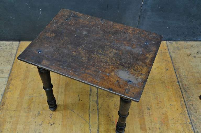 Willette Strongg Primitive Turned Leg Side Table At 1stdibs