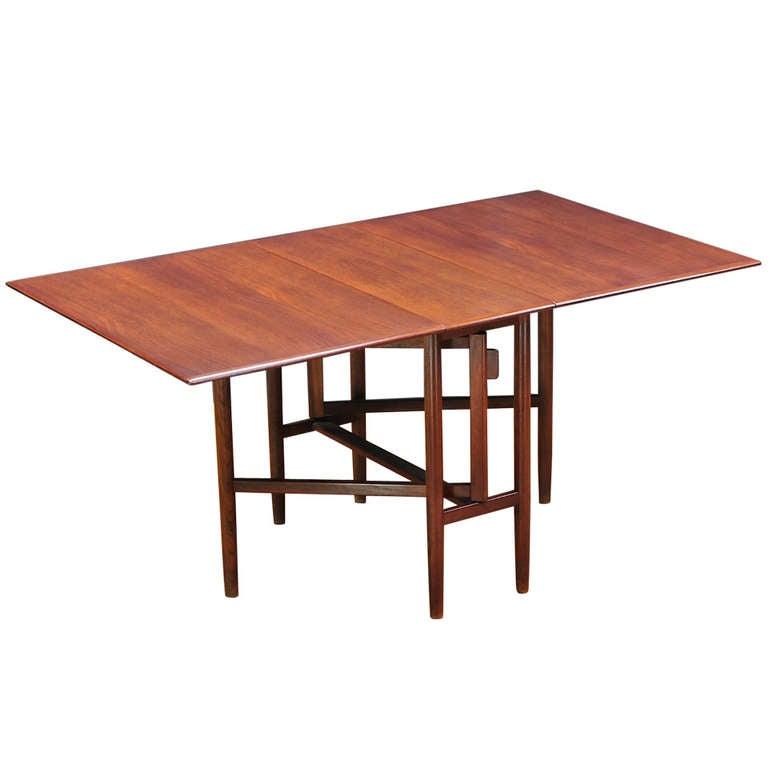 1955 swedish mid century bruno mathsson teak gateleg for Gateleg dining table