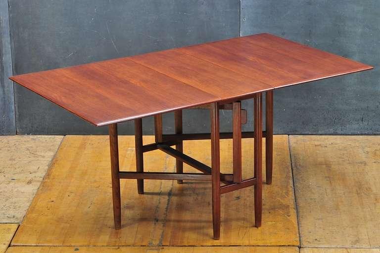 Swedish Mid Century Bruno Mathsson Teak Gateleg Dining Table - Mid century modern folding dining table