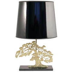 """1970s """"Bonzai"""" Table Lamp Attributed to Willy Daro"""