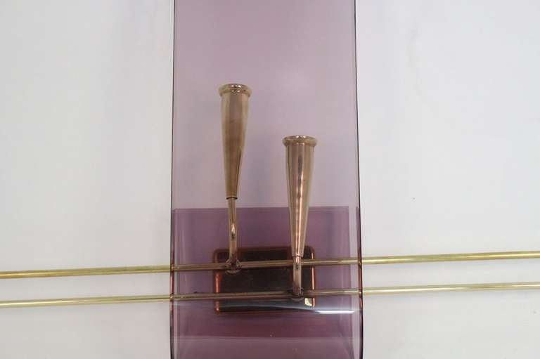 Pair of 1960's Asymmetrical Altuglass Sconces 4