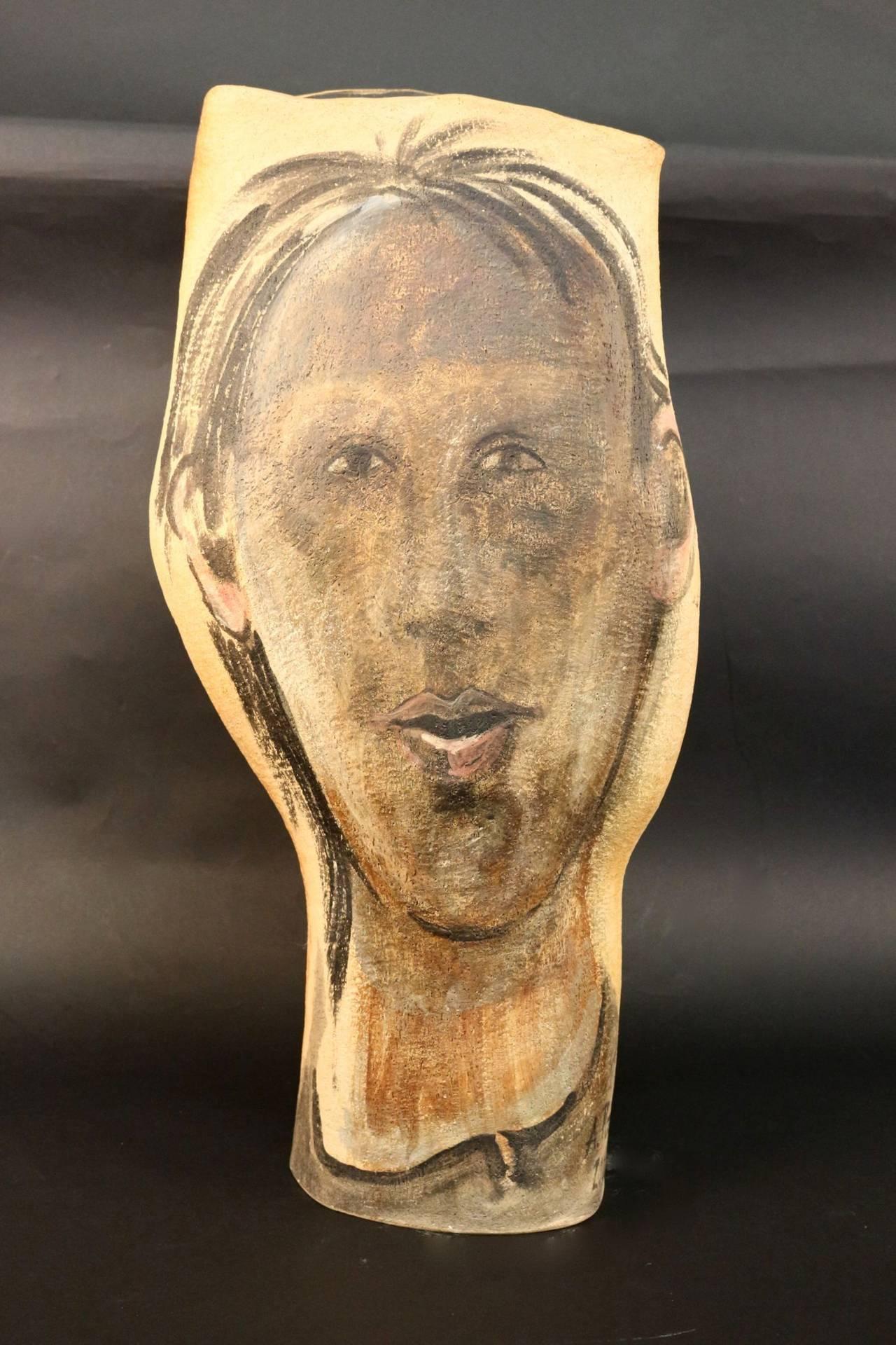 Umbrella Holder or Large Vase Signed Albert Poizat, 2002 For Sale 2