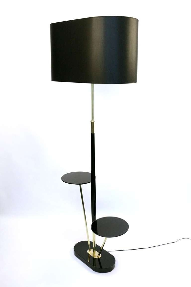this 1950s floor lamp with two opaline trays is no longer available. Black Bedroom Furniture Sets. Home Design Ideas