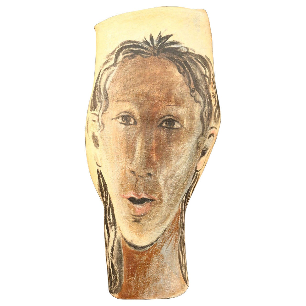 Umbrella Holder or Large Vase Signed Albert Poizat, 2002 For Sale