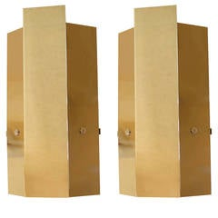 Large Pair of 1970s Sconces by Maison Roche