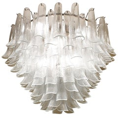 1970s 'Lotus' Chandelier by Murano