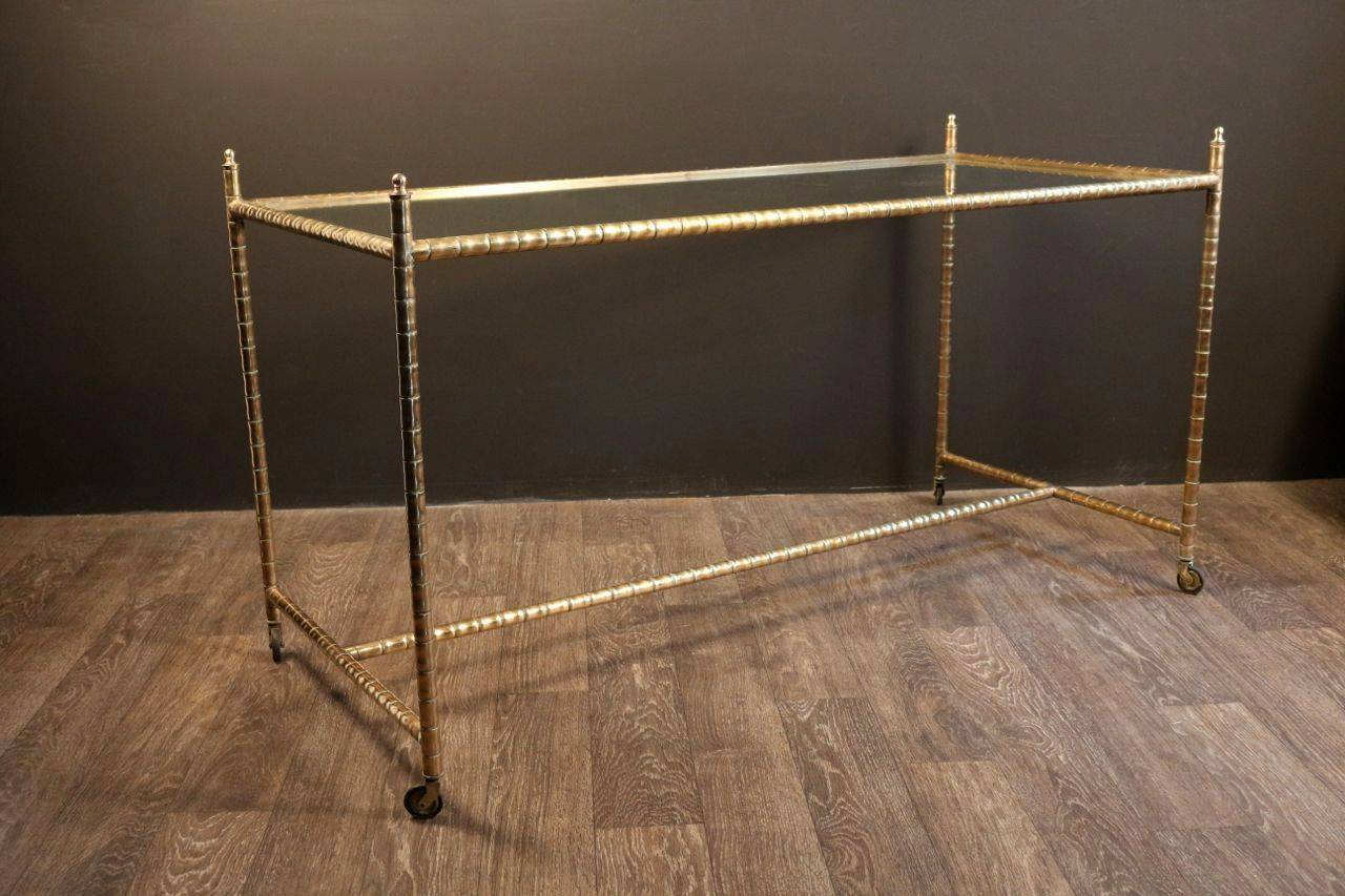 Large 1950s console table by maison bagues at 1stdibs - Table console ancienne ...